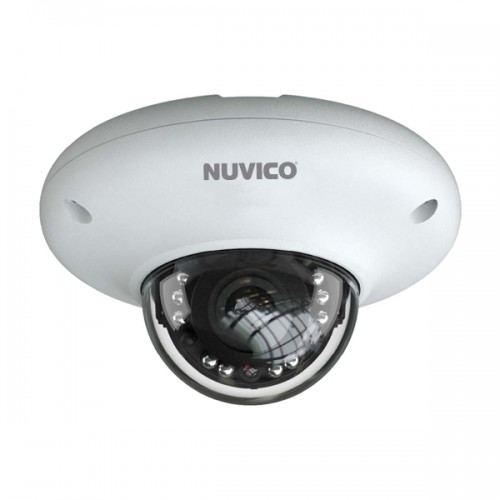 NCT-4M-MV2A Nuvico 2.8mm 30FPS @ 4MP Outdoor IR Day/Night WDR Vandal Dome IP Security Camera 12VDC/PoE