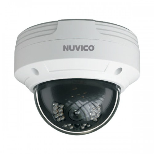 NCT-4M-OV2 Nuvico 2.8mm 30FPS @ 4MP Outdoor IR Day/Night WDR Vandal Dome IP Security Camera 12VDC/PoE
