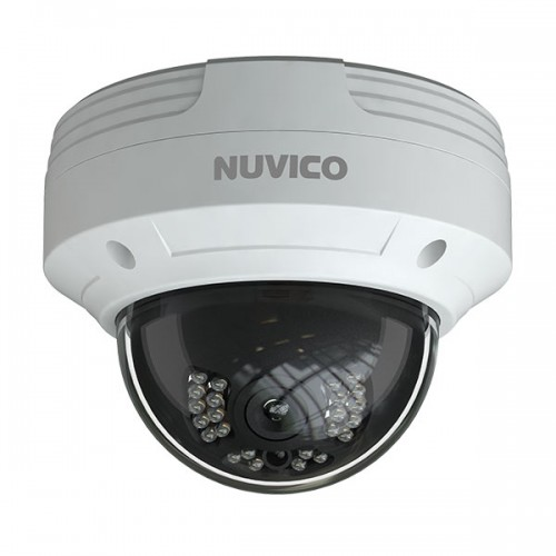 NCT-4M-OV2 Nuvico Xcel Series 2.8mm 30FPS @ 4MP Indoor/Outdoor IR Day/Night WDR Vandal Dome IP Security Camera 12VDC/PoE
