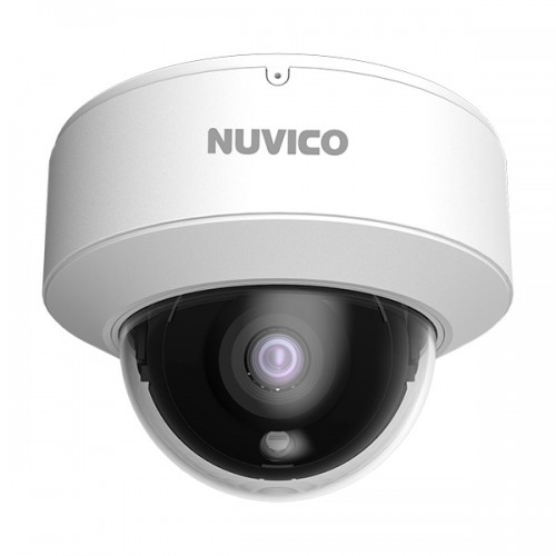 NCT-5ML-OV2 Nuvico Xcel Series 2.8mm 20FPS @ 5MP Indoor/Outdoor IR Day/Night DWDR Vandal Dome IP Security Camera 12VDC/PoE