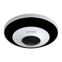 NCT-6M-FE Nuvico Xcel Series 6MP Fisheye 1.07mm 30FPS @ 2160 x 2160 Indoor/Outdoor IR Day/Night DWDR IP Security Camera 12VDC/PoE