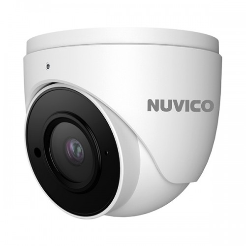 NCT-8ML-E21AF Nuvico Xcel Series 2.8~12mm Motorized 20FPS @ 8MP/4K Indoor/Outdoor IR Day/Night DWDR Eyeball IP Security Camera 12VDC/PoE - Built-in Microphone