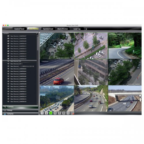 Nuvico Xcel CMS for Nuvico Xcel Series IP Cameras and Recorders - Mac Version