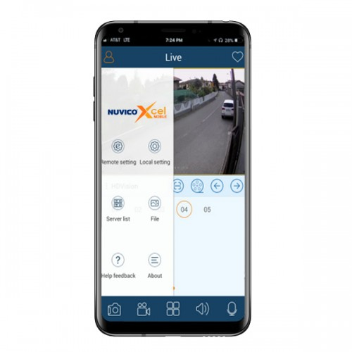 Nuvico Xcel Mobile for Nuvico Xcel Series IP Cameras and Nuvico Xcel Series Recorders - Android