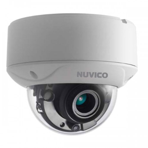 TCH-5M-OV21 Nuvico 2.7~13.5mm Motorized 20FPS @ 5MP Indoor/Outdoor IR Day/Night Vandal Dome HD-TVI/HD-CVI/AHD Security Camera 12VDC/24VAC