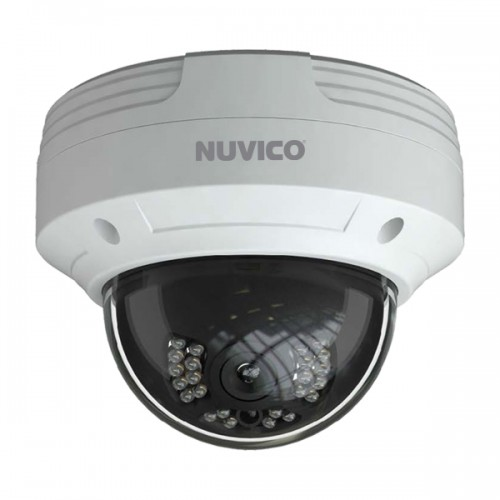 TCT-2M-OV2 Nuvico 2.8mm 30FPS @ 1080p Outdoor IR Day/Night DWDR Vandal Dome HD-TVI/HD-CVI/AHD/Analog Security Camera 12VDC