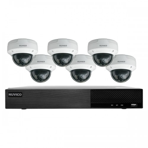 TNP84-4MOV6 Nuvico Xcel Series 8 Channel NVR Kit 50Mbps Max Throughput - 4TB Built-in 8 Port PoE and 6 x 4MP 2.8mm Outdoor IR Vandal Dome IP Security Cameras