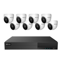 TNP84-5MLE8 Nuvico Xcel Series 8 Channel NVR Kit 50Mbps Max Throughput - 4TB Built-in 8 Port PoE and 8 x 5MP 2.8mm Outdoor IR Eyeball IP Security Cameras
