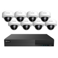 TNP84-5MLOV8 Nuvico Xcel Series 8 Channel NVR Kit 50Mbps Max Throughput - 4TB Built-in 8 Port PoE and 8 x 5MP 2.8mm Outdoor IR Vandal Dome IP Security Cameras
