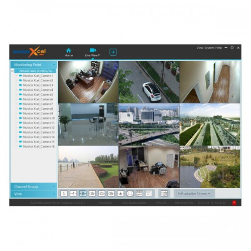 Nuvico Xcel VMS for Nuvico Xcel Series IP Cameras and Recorders - PC Version