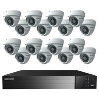 TNP3216-4ME16 Nuvico Xcel Series 32 Channel NVR Kit 256Mbps Max Throughput - 16TB Built-in 16 Port PoE and 16 x 4MP 2.8mm Outdoor IR Eyeball IP Security Cameras