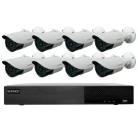 TNP84-4MB8 Nuvico Xcel Series 8 Channel NVR Kit 50Mbps Max Throughput - 4TB Built-in 8 Port PoE and 8 x 4MP 2.8mm Outdoor IR Bullet IP Security Cameras
