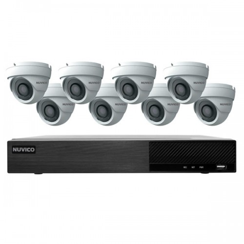TNP84-4ME8 Nuvico Xcel Series 8 Channel NVR Kit 50Mbps Max Throughput - 4TB Built-in 8 Port PoE and 8 x 4MP 2.8mm Outdoor IR Eyeball IP Security Cameras