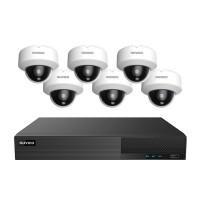 TNP84-5MLOV6 Nuvico Xcel Series 8 Channel NVR Kit 50Mbps Max Throughput - 4TB Built-in 8 Port PoE and 6 x 5MP 2.8mm Outdoor IR Vandal Dome IP Security Cameras